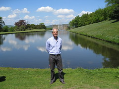 Jose Casas enjoying views at Chatsworth