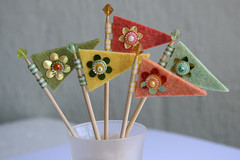 Cupcake Flags (a little bit of just because) Tags: wedding beads handmade felt sequins cupcakeflags