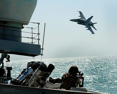 A Kuwaiti F18 Hornet Conducts a Simulated Air Attack on HMS St Albans During an Exercise in the Middle East (Defence Images) Tags: uk apache fighter ship gulf aircraft military attack jet middleeast equipment portsmouth british hornet kuwait f18 foreign frigate defense defence kuwaiti attacking royalnavy hants f18hornet adex type23 ffg hmsstalbans airdefence dukeclass passex kuwaitcoastguard boardex