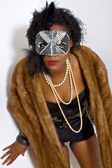 Masked Candance (johnnytreehouse) Tags: cute sexy beautiful beauty canon pose fur clothing model pretty photoshoot mask modeling coat posing clothes pearl lovely leotard candance 50d necklance