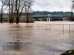 Pylons (For Bunk) Tags: park oregon river portland flood rv pylons cones 2012 oregoncity clackamas clackamette