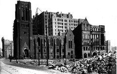 Congregational Church 1906 (sftrajan) Tags: sanfrancisco fire photo earthquake ruins 1906 masonstreet poststreet congregationalchurch riuns