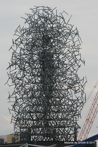 Metal Spike Sculpture