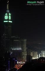 Makkah Clock Tower (Abraj Al Bait) -   (Ateyah J. Hujaili) Tags: tower clock canon hotel saudi arabia mecca 2012 makkah safa abraj marwah qibla 2011 zamzam  600d     ateyah hujaili