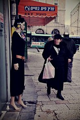 Exchange of glances (Gali-Dana) Tags: street people woman mannequin shop israel jerusalem streetphotography              galidana