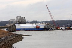 Eggner Ferry Bridge damaged (AllHarts) Tags: lbl eggnerferrybridge kenlakestatepark fentonky