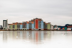 Frozen (Mark J P) Tags: uk greatbritain winter sea england cold reflection building english ice architecture landscape frozen colorful britishisles unitedkingdom britain lifeboat dorset gb british colourful frozenwater poole rnli frozensea rescueboat fav10 colorfulbuilding 52weeks supershot colourfulbuilding holesbay 52012 diamondclassphotographer flickrdiamond
