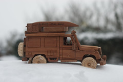 Snowed Under (Mat Robertshaw) Tags: game car toy wooden jeep malawi humvee landrover humber woodentoy woodencar