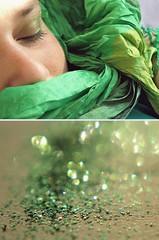 Daydreamer (litla) Tags: selfportrait macro green glitter diptych bokeh ivy olympus e3 daydream litla 52pics