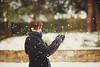 it snowed... finally.. (In Memory Lane~) Tags: winter england snow male london dof bokeh mark 85mm nicholas ii 5d lau 85l
