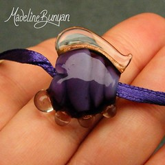 """Small Purple Abstract Heart Lampwork Focal Bead • <a style=""""font-size:0.8em;"""" href=""""https://www.flickr.com/photos/37516896@N05/6842271785/"""" target=""""_blank"""">View on Flickr</a>"""