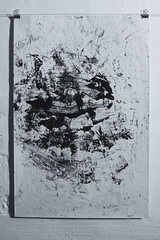 (SQNCS) Tags: abstract black art texture dark paint monotype