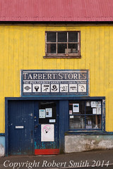 Shop Front Tarbet Stores 3 (Bob from kent) Tags: blue red yellow shop harris stores hebrides tarbert