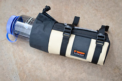Custom Honaker Hydro Pack with tan PVC accent. (Bedrock Bags) Tags: bike pack bags hy bedrock honaker bikepacking bedrockbags bikepackingbags
