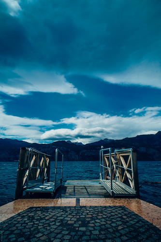 Gangway (92474414@N04), photography tags:  bridge sky lake mountains colour film water clouds nikon df raw waves nef riva pack