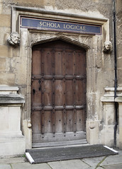 'Schola Logicae' door, Bodleian Library, Oxford (Cathedral City Guide) Tags: door greatbritain england education unitedkingdom library medieval oxford oxfordshire logic bodleianlibrary cathedralcity universityofoxford pixlr