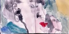 whrend sie noch trumte hatte die Musik aufgehrt und die Bahn angehalten (raumoberbayern) Tags: city winter bus fall pencil paper munich mnchen landscape herbst tram sketchbook stadt papier landschaft bleistift robbbilder skizzenbuch strasenbahn