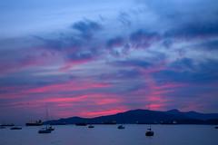(roberts.alex37) Tags: ocean pink sunset beach vancouver clouds boats bc harbour ships kits kitsilano beautifulbc