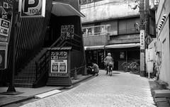 (daily traffic 2) (Dinasty_Oomae) Tags: blackandwhite bw monochrome bike bicycle tokyo blackwhite  slope akabane kitaku         taiyodo taiyodokoki beautycamera  35 beautysuper35 35 beauty35super