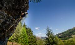 DSC_6250-2 (Fras333) Tags: rock climb countryside perthshire climbing rockclimbing strathyre schist sportclimb