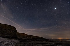 Southerndown stars, Vale of Glamorgan, Wales (IHphoto) Tags: seascape wales stars landscape astro timeexposure southerndown heritagecoast