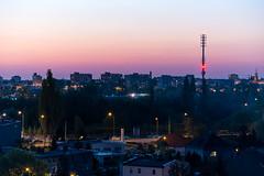 Smog suspension (Przemek Turlej) Tags: sunset urban skyline night catchycolors evening smog spring cityscape zoom may poland polska panoramic polen tele residental pozna poznan posen tamron70300mm debiec nikond750 przemyslawturlej