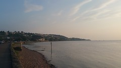 Portishead (romany_dean) Tags: trees sunset sea summer holiday beach water architecture buildings river landscape seaside portishead cliffs severn hills