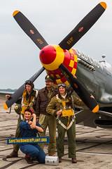 USAAF North American P-51B Mustang 43-24823/NL551E 'B6-S' (Hugh Dodson) Tags: saturday ypsilanti mustang reenactors b6s oldcrow willowrun northamerican usaaf p51b nl551e thunderovermichigan2015 4324823