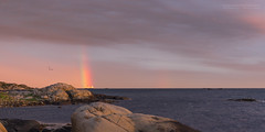 The Right Moment (Normann Photography) Tags: sea weather ferry seaside rainbow pole moment protect vestfold colorline strmstadsandefjord