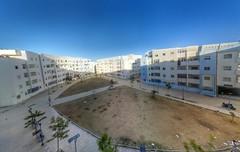 Mixta Martil (Yassine Abbadi) Tags: road bridge sea sky cloud mountain beach grass plane sunrise buildings spring hill mosque morocco maroc hdr tetuan tetouan martil bouanane