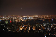 From the Empire State Building (Luce&inchiostrO) Tags: new york city light never building night america view state united empire states sleeps notte uniti notturno stati