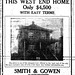 If only... West End house $4,500 - 1912