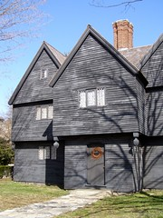 """""""The Witch House"""" (melystu) Tags: windows museum architecture ma shadows 17thcentury restored salem siding clapboard overhang 2010 witchtrials firstperiod diamondpanes mystuart pendill"""