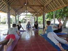 Yoga Session #3 (ashramgandhi) Tags: yoga candidasa retreats 2011 ashramgandhicom