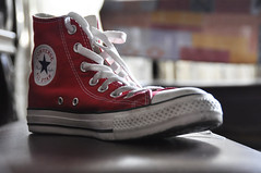 My Red Shoes (steff.sarcia) Tags: red high cool shoes cut converse taylor chuck chucks hicut
