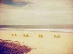 . (Catherine...) Tags: ocean sky seascape color beach water sand chairs pastel sable ciel vagues plage couleur chaises abandonned écume océan wawes déserte artlibre