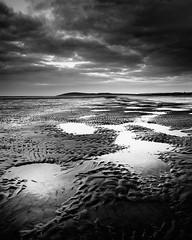 Berrow Sands Looking Towards Brean Down (Scott Howse) Tags: uk england beach monochrome coast blackwhite sand somerset lee filters puddles graduated brean berrow 09h