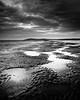 Berrow Sands Looking Towards Brean Down (Scott Howse) Tags: uk england beach monochrome coast blackwhite sand somerset lee filters puddles graduated brean berrow 09h