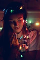 102 366 (Vanessa Cantu) Tags: christmas vanessa color girl 50mm lights nikon pretty florida room crown 102 365 rumor cantu labelle f14g d3100