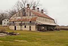 Four metal cupola's (nikons4me) Tags: old barn building farm iowa cupola tamronaf2870mmf3545 fujifilmfinepixs3pro ia