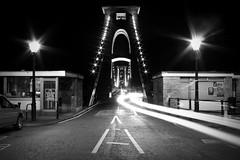 Clifton Nights (MatthewsCamera) Tags: uk longexposure light monochrome canon dark bristol blackwhite slowshutter lighttrails becks eos450d matthewscamera ckifton