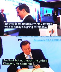 2011_12_100010 - Cameron lost but not least (t1.5) (Gwydion M. Williams) Tags: uk greatbritain england funny europe britain euro humor humour subtitles captions subtitle misprint europeancommunity davidcameron misprints eurozone eurocrisis britishveto