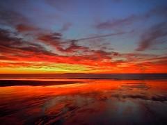 Sunrise at Old Orchard Beach (Timothy Valentine) Tags: sky beach sunrise maine large saturday oldorchardbeach 1011 cliché