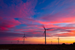 Sunset over an Indiana Windfarm (Explore) (Eric Hines Photography) Tags: sunset windmill timelapse indiana windfarm turbines 1635mmf28lii 5dmarkii