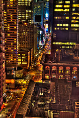 Times Square from Above (Sprengben [why not get a friend]) Tags: world china city roof winter summer sky music newyork paris art japan clouds skyscraper garden subway observation lights amazing nikon traffic artistic time metro gorgeous awesome hamburg broadway illumination hilton police samsung style symmetry divine international acer stunning batman metropolis charming foreign sheraton fabulous hdr linear englandlondon gothamcity missliberty parkcentralhotel engaging travelphotography d90 photomatix travellight d3s sprengbenurban timessquare7thavenue