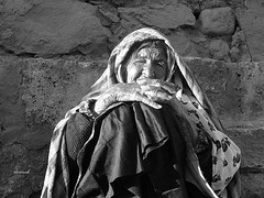 Old elderly woman in Abyaneh, kashan, iran (Dariush.M) Tags: old woman mother grand elderly soe     flickraward  flickraward5    abyaneh
