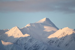 Mirage of a Mountain (MichelleLegere) Tags: blue sky mountain snow canada clouds sunrise canon eos junction yukon 7d f56 hainesjunction yt kluane kluanenationalpark yukonterritory 1160 55250 229mm
