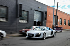 AcceleR8 *Explored* (Tom Fraser Photo) Tags: nice australia melbourne audi scr ssc r8 melb sccr wqm t0m722 whiteacceleration