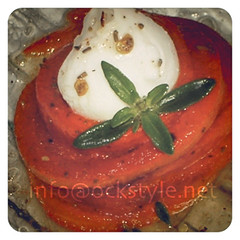 Bites - Grilled Bell Pepper Nest with Cherry-M...