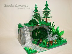 Geode Caverns (Siercon and Coral) Tags: castle treasure lego crystal fantasy cave ccc geode cavern moc forestmen